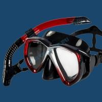 Набор маска и трубка Sargan Неро 1