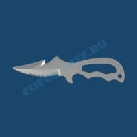 Подводный нож Cosmos титановый 1