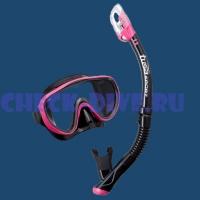 Комплект маска трубка Tusa UC1625 Black Series 1
