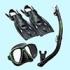 Комплект маска трубка лаcты Tusa UP2521