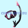 Комплект маска трубка Tusa US1625 Black Series