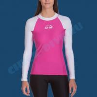 Гидромайка женская IQ UV300+ бело-розовая 1