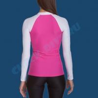 Гидромайка женская IQ UV300+ бело-розовая 3