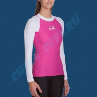 Гидромайка женская IQ UV300+ бело-розовая 4