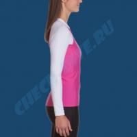 Гидромайка женская IQ UV300+ бело-розовая 6